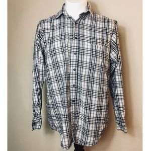 Great Plains Button Down Flannel Plaid Long Sleeve